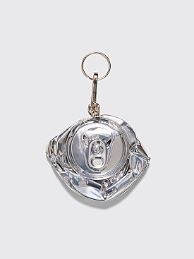 Raf Simons Crushed Can Keychain Silver