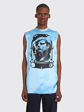 Raf Simons Punkette Rings Sleeveless Top Light Blue