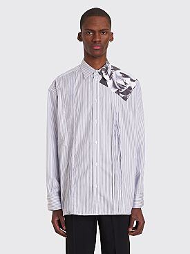 Raf Simons Cropped Printed Photo Shirt Stripe Blue