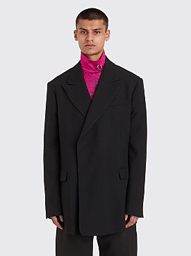 Raf Simons Double Breasted Fitted Blazer Black