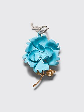Raf Simons Rose Charm Light Blue / Gold