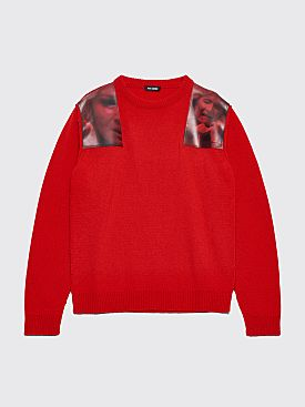 Raf Simons Wild At Heart / Blue Velvet Sweater Red