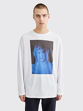 Raf Simons Blue Velvet Long Sleeve T-shirt White