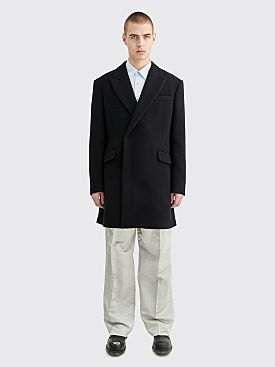 Raf Simons Double Breasted Coat Black
