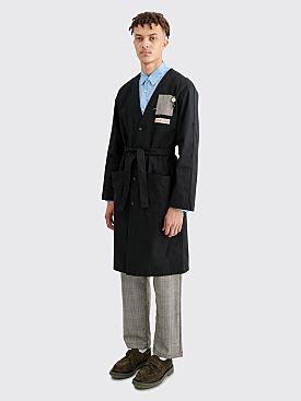 Raf Simons Raglan Labo Coat Black