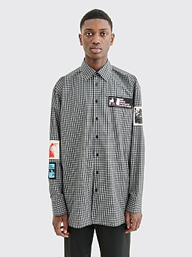 Raf Simons Oversized Patch Shirt Checkered Black