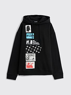 Raf Simons Regular Patch Hooded Sweatshirt Black