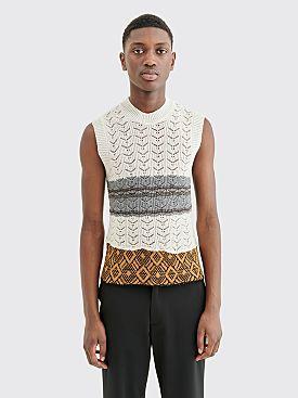 Raf Simons Knit Gilet Star Print White
