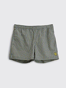 Raf Simons Swim Shorts Checkered Blue / Yellow