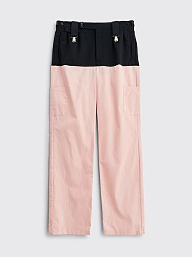 Raf Simons Horizontal Cut Pants Pink / Dark Navy