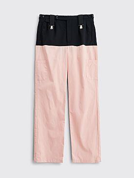 Raf Simons Horizontal Cut Pants Pink / Dark Navy