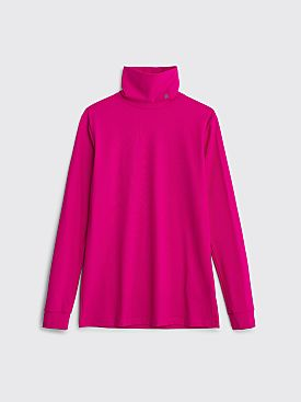 Raf Simons Sous Pull Sweater Stand Up Collar Fuchsia