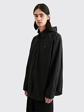 Raf Simons Big Fit R Hooded Shirt Black