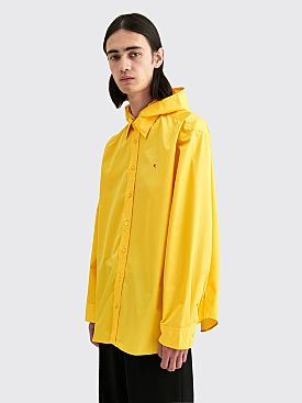 Raf Simons Big Fit R Hooded Shirt Yellow