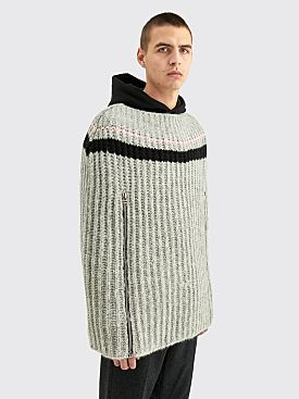Raf Simons Transformer Cape With Zipper Sleeves Grey