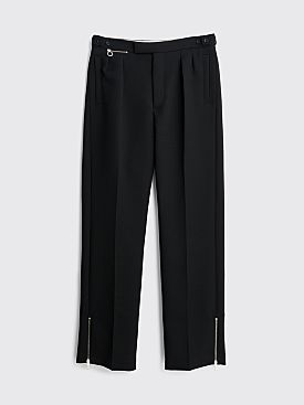 Raf Simons Wide Fit Pants With Ankle Zips Dark Navy