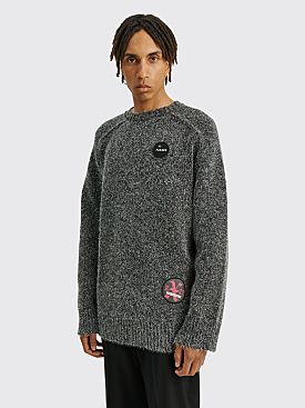 Raf Simons Oversized Jersey Hammer Sleeves Roundneck Grey