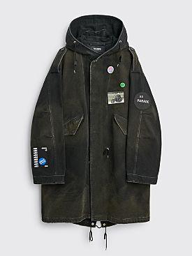 Raf Simons Medium Length Parka Jacket Black
