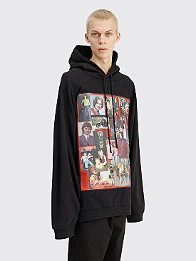 Raf Simons Oversized Hooded Sweatshirt Pictures Black
