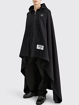 Raf Simons Medium Length Fleece Cape Black