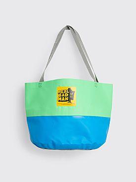 Real Bad Man Rubber Tote Bag Blue / Green