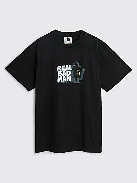 Real Bad Man Front Hitter T-shirt Black