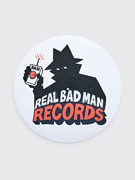 Real Bad Man Record Slipmat White
