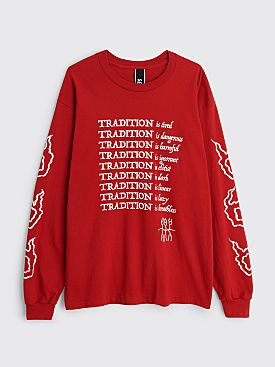 Second Best Tradition LS T-shirt Red