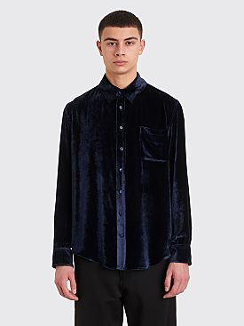 Sies Marjan Sander Fluid Corduroy Shirt Denim Blue