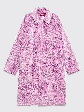 Sies Marjan Blaine Faux Fur Coat Lavender