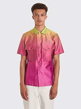 Sies Marjan Dean Degrade Pocket Button Shirt Neon Green / Magenta