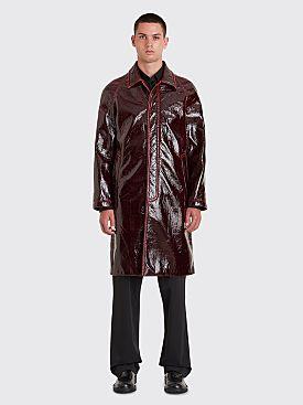 Sies Marjan Blaine Lacquered Raglan Coat Burgundy