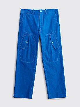 Sies Marjan Eshaan Canvas Cargo Pants Lapis Blue