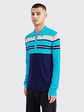 Sies Marjan Cortez Merino Henley Sweater Blue