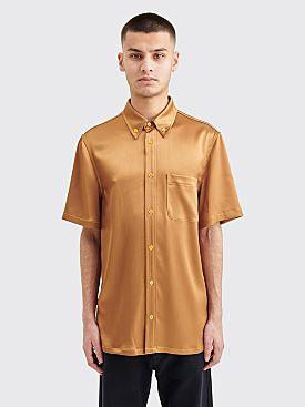 Sies Marjan Rooney Crinkled Satin Shirt Praline
