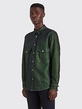 Sies Marjan Oskar Lurex Twill Shirt Green