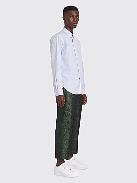 Sies Marjan Alex Lurex Twill Cropped Pants Green