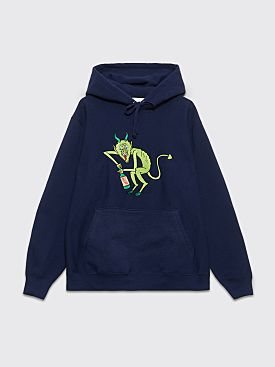 Better TM Il Diavolo Dentro Hooded Sweatshirt Navy