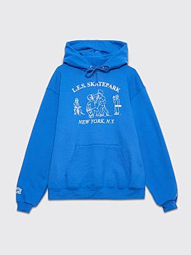 Quartersnacks L.E.S. Skatepark Hooded Sweatshirt Royal Blue