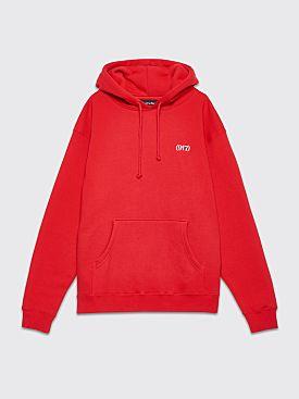 Nine One Seven Area Code Hooded Sweatshirt Red