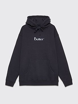 Butter Goods Puff Print Logo Hooded Sweatshirt Navy
