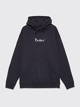 Butter Goods Puff Print Logo Hooded Sweatshirt Navy