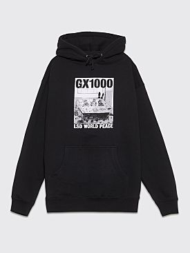 GX1000 x LSD World Peace Trim Life Hoodie Black
