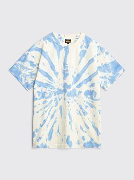 Butter Goods Badge T-shirt Tie Dye Sky Blue