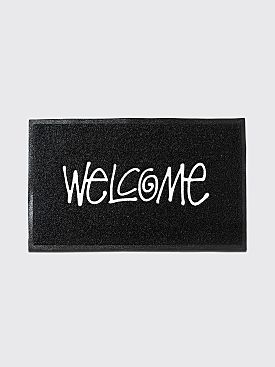 Stüssy PVC Welcome Mat Black