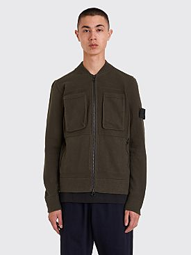 Stone Island Shadow Project Zip Cardigan Dark Green