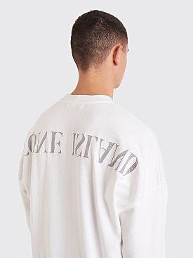 Stone Island Compass Logo Sweatshirt White