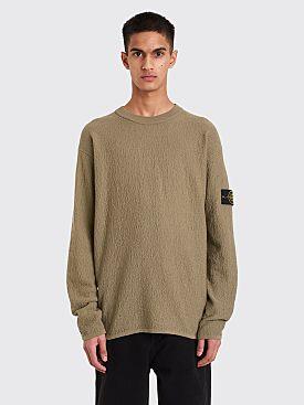 Stone Island Bouclé Sweater Sage Green