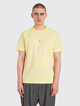 Stone Island Marina Logo T-shirt Stripe Yellow