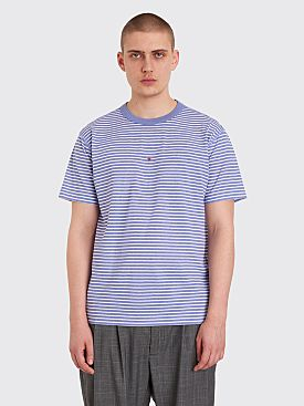 Stone Island Marina Logo T-shirt Stripe Blue